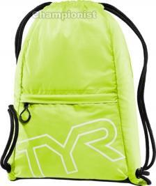 TYR DRAW STRING BACKPACK FL YELLOW