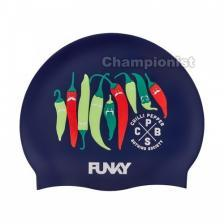 FUNKY TRUNKS SILICONE SWIMMING CAP CHILLI BOSS