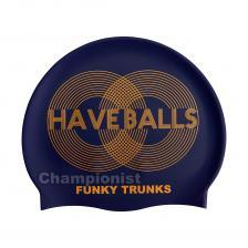 FUNKY TRUNKS SILICONE SWIMMING CAP GOLDEN BALLS