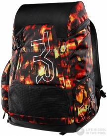 TYR ALLIANCE 45L BACKPACK SUNSET RED/YELLOW