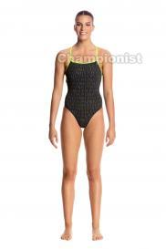 FUNKITA LADIES STRAPPED IN ONE PIECE BINARY BABE