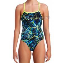 FUNKITA LADIES STRAPPED IN ONE PIECE MIDNIGHT MARBLE