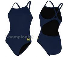 MP SOLID MID BACK ONE PIECE NVY BLUE
