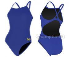 MP SOLID MID BACK ONE PIECE ROYAL BLUE
