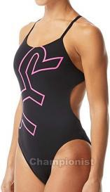 TYR WOMEN BIG LOGO CUTOUTFIT BLACK/PINK