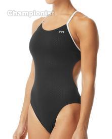 TYR WOMEN HEXA CUTOUTFIT BLACK/WHITE