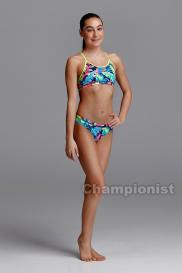 FUNKITA GIRLS ECORACERBACKTWO PIECE PALM OFF