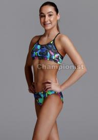FUNKITA GIRLS RACERBACK TWO PIECE SNAKE PIT