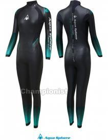 PHELPS FULL SUIT AQUASKIN 1MM WOMEN