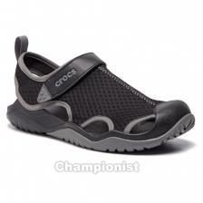 CROCS SWIFTWATER MESH DECK SANDAL MEN BLACK