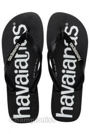 HAVAIANAS TOP LOGOMANIA MEN BLACK