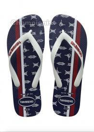 HAVAIANAS TOP MEN  NAUTICAL NAVY BLUE/WHITE