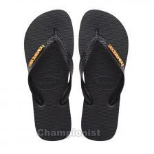 HAVAIANAS SANDALS TOP LOGO METALLIC WOMEN