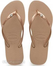 HAVAIANAS SLIM CRYSTAL SW II WOMEN ROSE GOLD