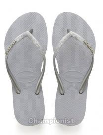 HAVAIANAS SLIM GLITTER ICE  GREY WOMEN