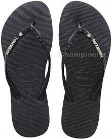 HAVAIANAS SLIM METAL LOGO AND CRYSTAL WOMEN