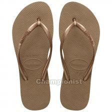 HAVAIANAS SLIM PLATFORM ROSE GOLD WOMEN