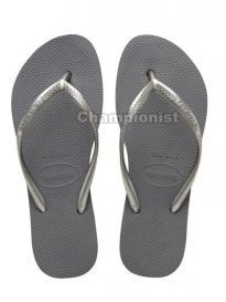 HAVAIANAS SLIM PLATFORM WOMEN STEEL GREY