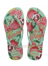HAVAIANAS SLIM SUMMER WOMEN GREEN DEW