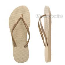 HAVAIANAS SLIM WOMEN SAND GREY/LIGHT GOLDEN