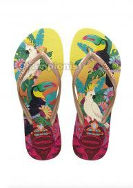 HAVAIANAS SLIM WOMEN TROPICAL LEMON YELLOW