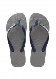 HAVAIANAS LOGO YOUTH STEEL GREY/NAVY