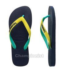 HAVAIANAS TOP MIX YOUTH  NAVY/NEON YELLOW