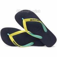 HAVAIANAS KIDS TOP MIX NAVY/NEON YELLOW